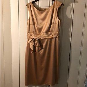 ABS Essentials Allen Schwartz gold dress size 14